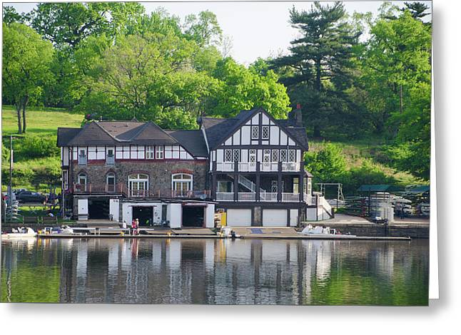 Crescent Boat Club And Pennsylvania Barge Club Greeting Card by Bill Cannon