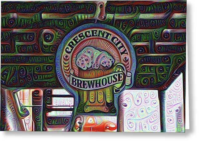 Crescent City Brewhouse - New Orleans Greeting Card by Bill Cannon