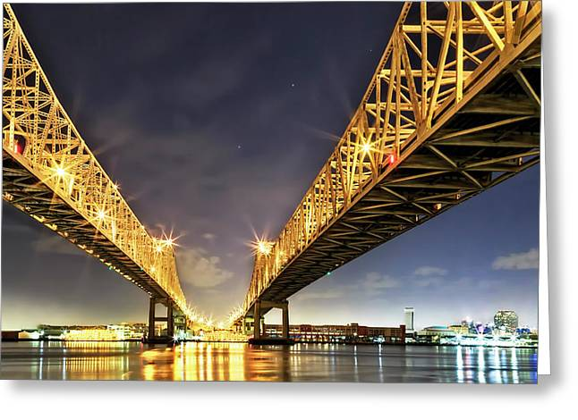 Crescent City Bridge In New Orleans Greeting Card