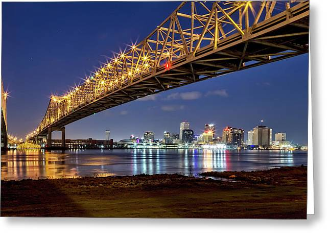 Crescent City Bridge, New Orleans Greeting Card