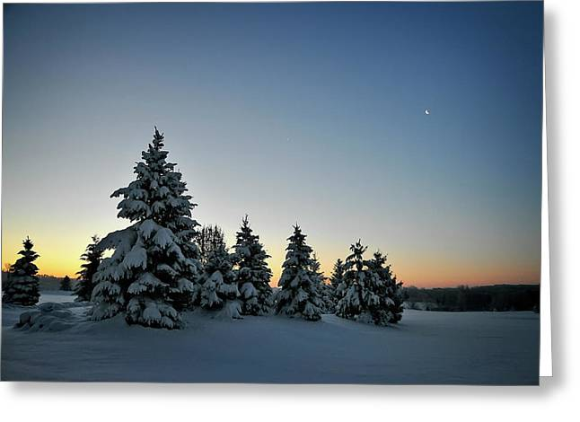 Crescent Dawn Greeting Card