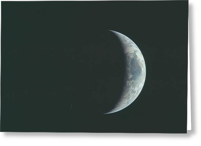 Crescent Earth Greeting Card by Artistic Panda