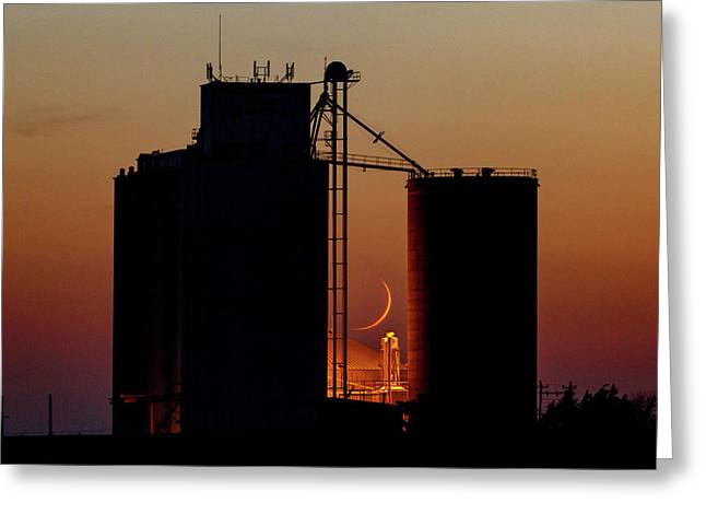 Greeting Card featuring the photograph Crescent Moon At Laird 08 by Rob Graham