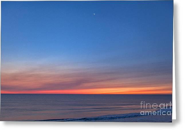 Crescent Tide Greeting Card by Richard Sandford