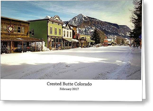 Crested Butte Greeting Card