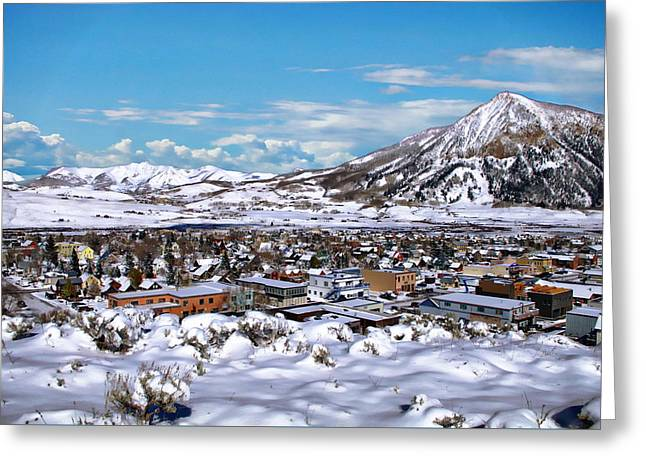 Crested Butte Panorama Greeting Card