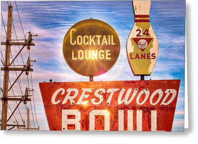 Crestwood Bowl Greeting Card by Robert  FERD Frank