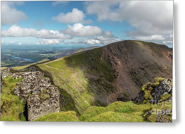 Crib Goch Mountain Greeting Card by Adrian Evans