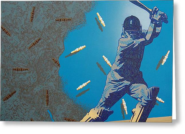 Cricket Fame-2 Greeting Card by Bharat Gothwal
