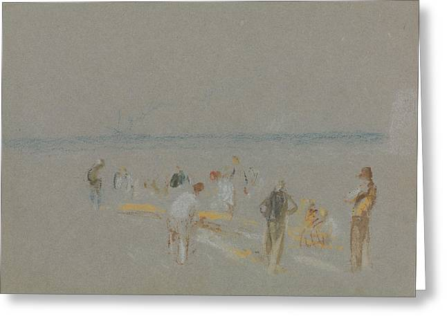 Cricket On The Goodwin Sands Greeting Card by Joseph Mallord William Turner