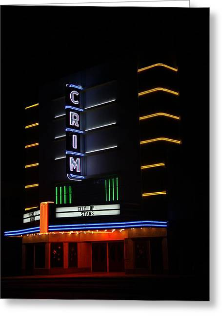 Crim Theater Greeting Card by Gayle Johnson