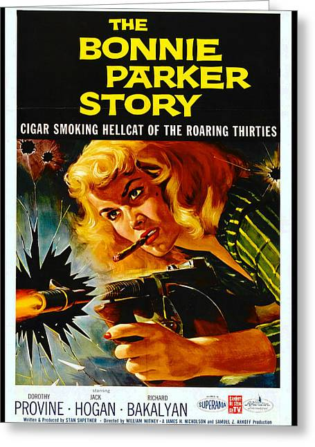 Crime Movie Poster 1958 Greeting Card