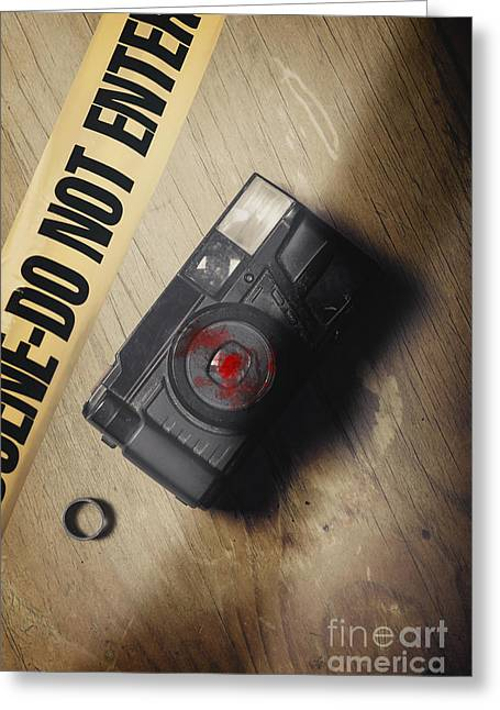 Crime Scene Evidence Of The Betrayal Greeting Card by Jorgo Photography - Wall Art Gallery
