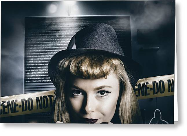 Crime Scene Photographer Greeting Card