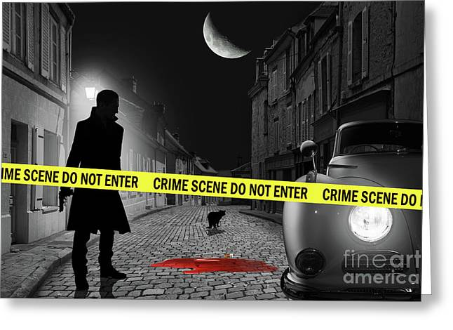 Crime Time Greeting Card