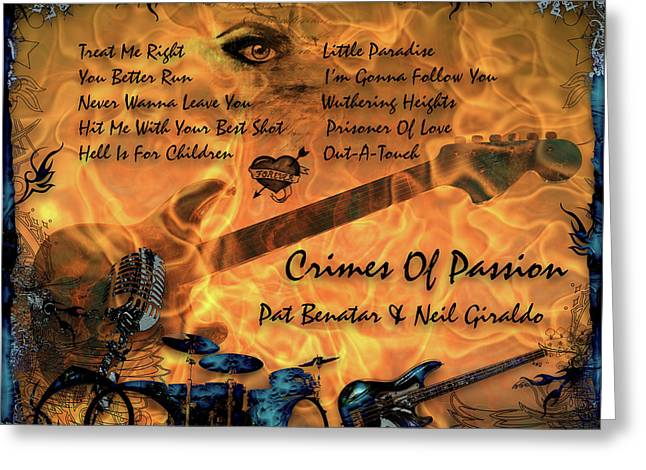Crimes Of Passion Greeting Card by Michael Damiani