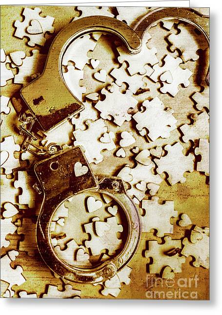 Criminal Affair Greeting Card
