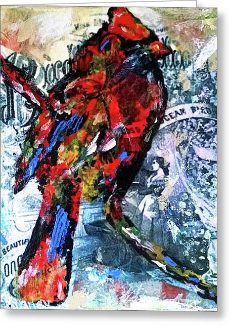 Crimson Cardinal Greeting Card