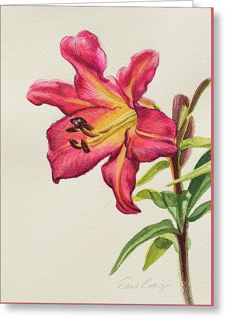 Crimson Lily 1 Greeting Card