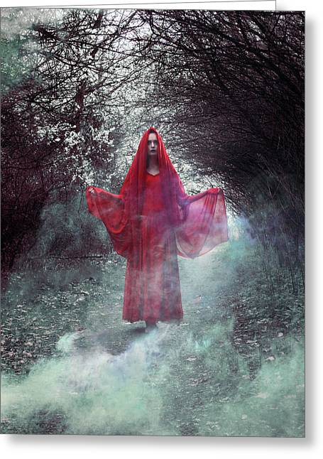Crimson Prophetess Greeting Card
