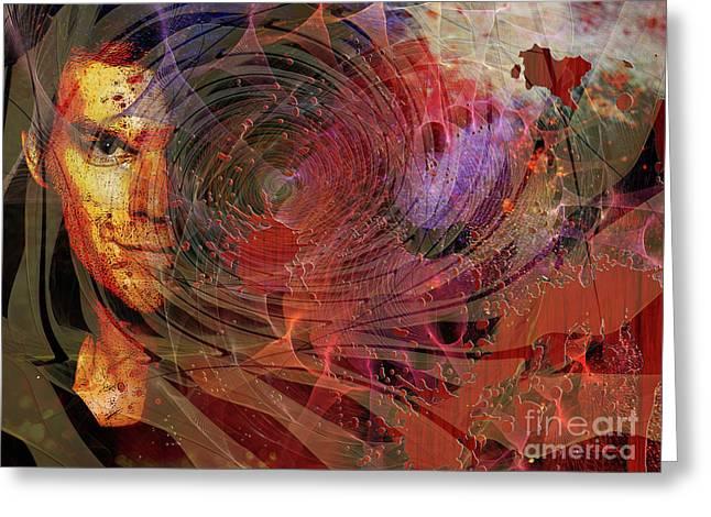 Crimson Requiem Greeting Card
