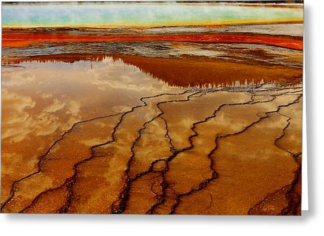 Greeting Card featuring the photograph Crimson River by Robert Pearson