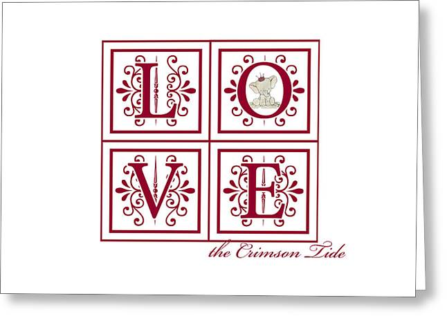 Crimson Tide Love Greeting Card by Marian Schumer