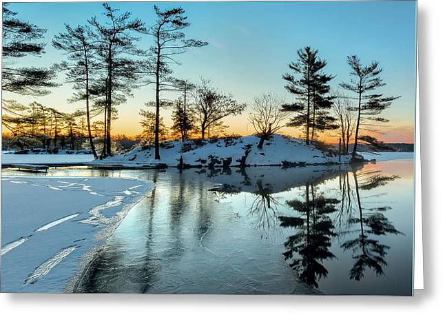 Crisp And Cold Start To The Day Greeting Card