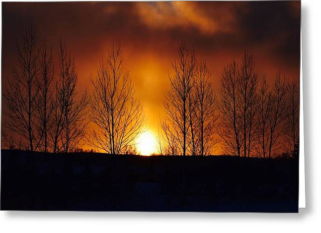 Crisp Sunset Greeting Card