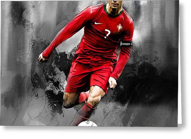 Cristiano Ronaldo 06s Greeting Card by Gull G
