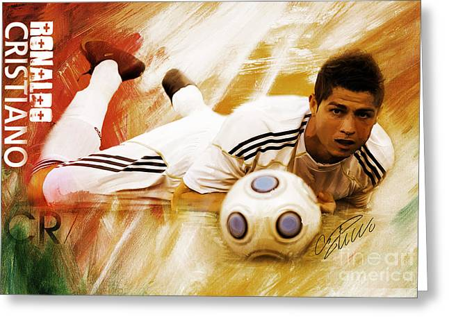 Cristiano Ronaldo 092f Greeting Card by Gull G