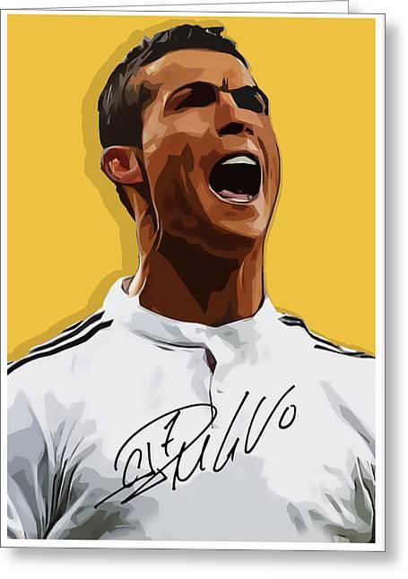 Cristiano Ronaldo Cr7 Greeting Card by Semih Yurdabak