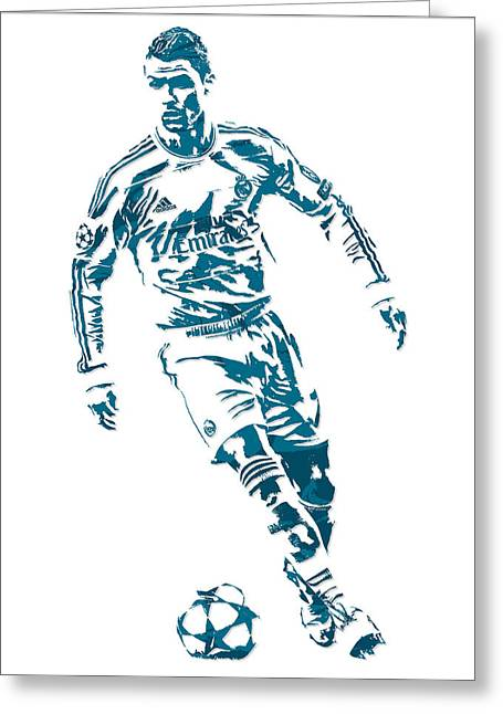 Cristiano Ronaldo Real Madrid Pixel Art 1 Greeting Card