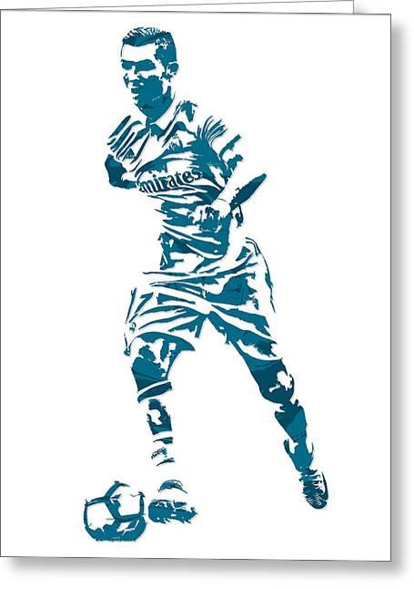 Cristiano Ronaldo Real Madrid Pixel Art 3 Greeting Card