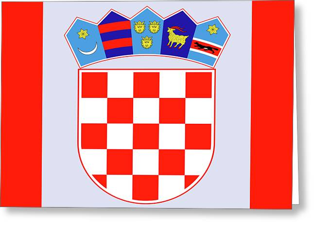 Greeting Card featuring the drawing Croatia Coat Of Arms by Movie Poster Prints