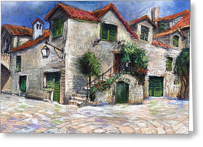 Croatia Dalmacia Square Greeting Card by Yuriy  Shevchuk
