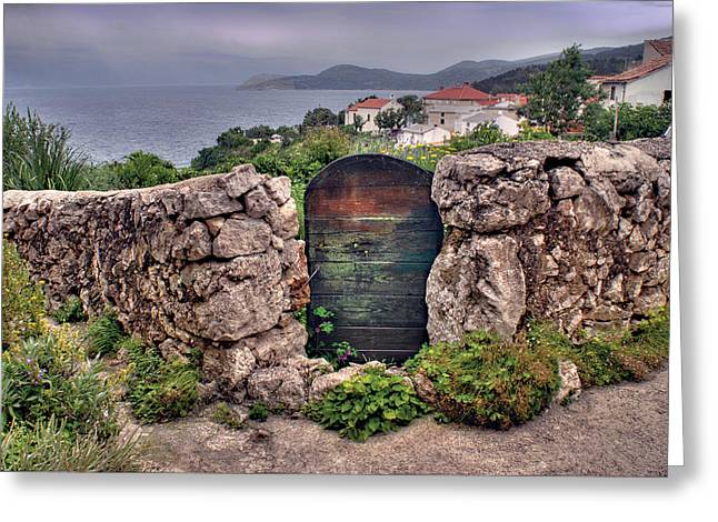 Croatian Gate Greeting Card by Don Wolf