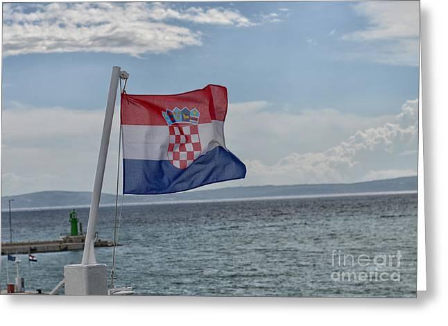 Croatian National Flag, Croatia Greeting Card by Ivan Batinic