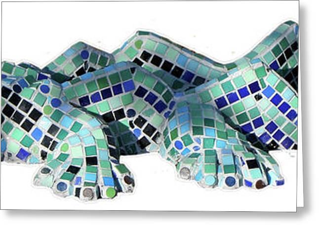 Crocodile Greeting Card by Katia Weyher