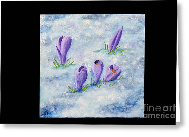 Crocus In The Snow Greeting Card