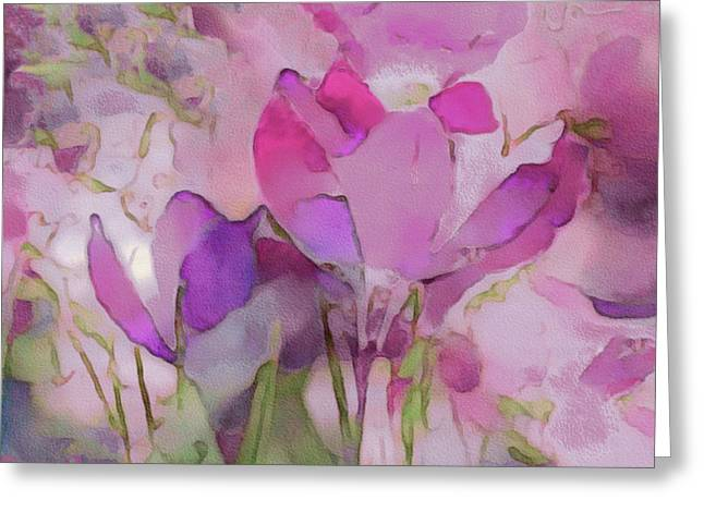 Crocus So Pink Greeting Card