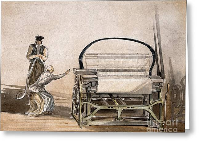 Cromptons Belt-driven Power Loom, 1835 Greeting Card