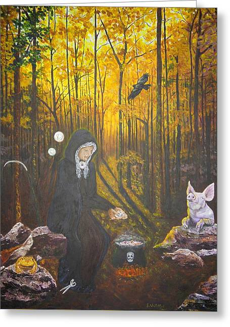 Crone Goddess Keridwen - Samhain Greeting Card
