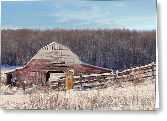 Crooked Fence Farm Greeting Card by Benanne Stiens