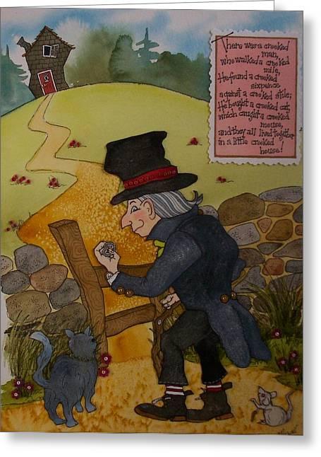 Crooked Man Greeting Card by Victoria Heryet