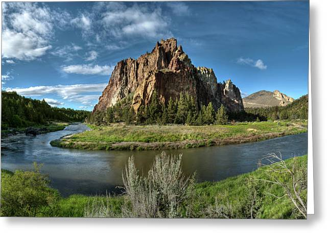Crooked River And Smith Rock Greeting Card