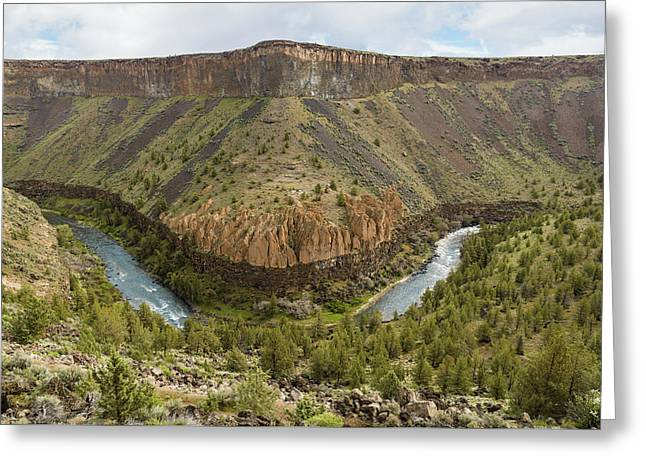 Crooked River Gorge Greeting Card by Joe Hudspeth