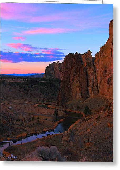 Crooked River Sunrise Greeting Card by Douglas Berg
