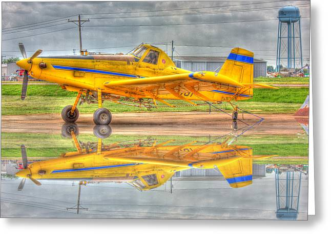 Crop Duster 002 Greeting Card by Barry Jones