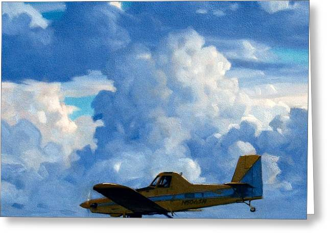 Crop Duster Greeting Card by Kevin Lawrence Leveque